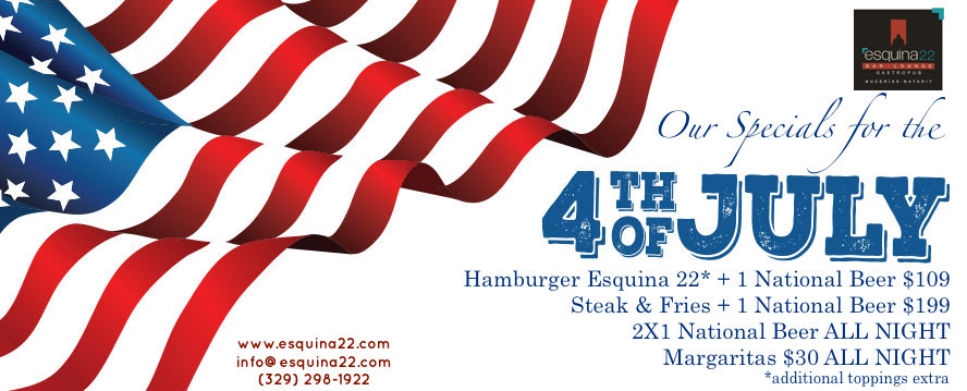 4th of July 2016 Specials