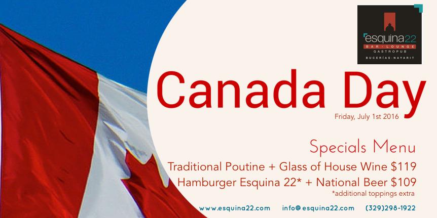 Canada Day Menu 2016